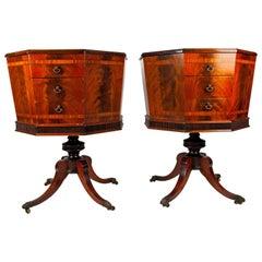 19. Jahrhundert Paar Sechseckige Saat Boxen oder Beistelltische, Englische Regency