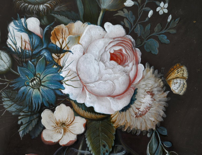 19th Century Pair of Flower Still Lifes South German Gouache, circa 1820 In Good Condition For Sale In Epfach, DE