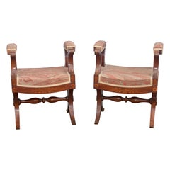 19th Century Pair of French Charles X Stools