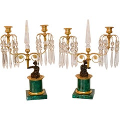 19th Century Pair of French Figural Candelabras