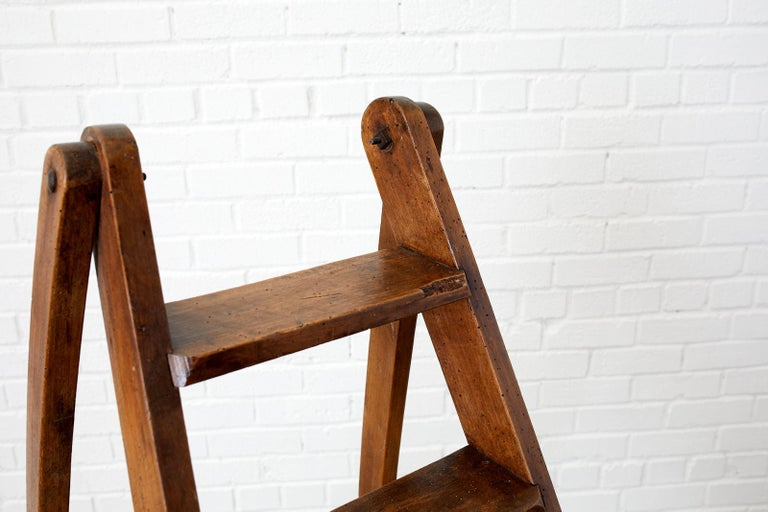 19th Century Pair of French Folding Library Step Ladders For Sale 4