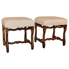 19th Century Pair of French Mutton Leg Stools