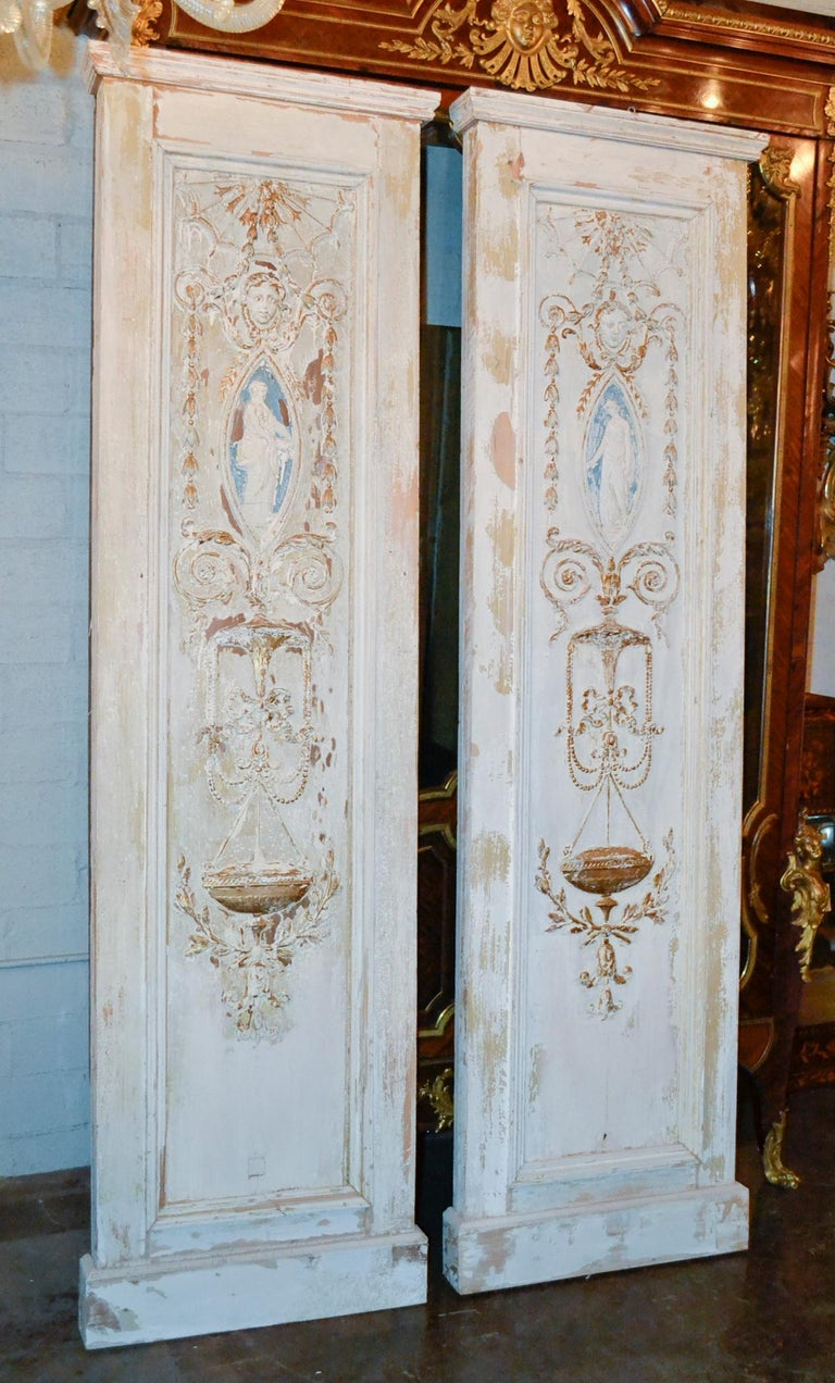 19th Century Pair of French Neoclassical Panels In Good Condition For Sale In Dallas, TX