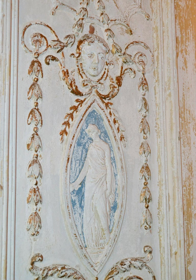 19th Century Pair of French Neoclassical Panels For Sale 1