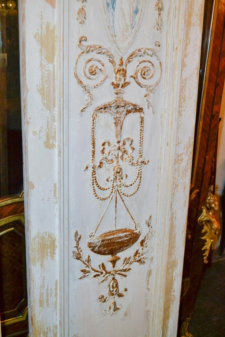 19th Century Pair of French Neoclassical Panels For Sale 2