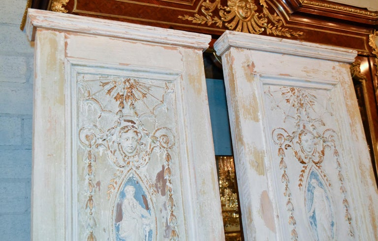 19th Century Pair of French Neoclassical Panels For Sale 4
