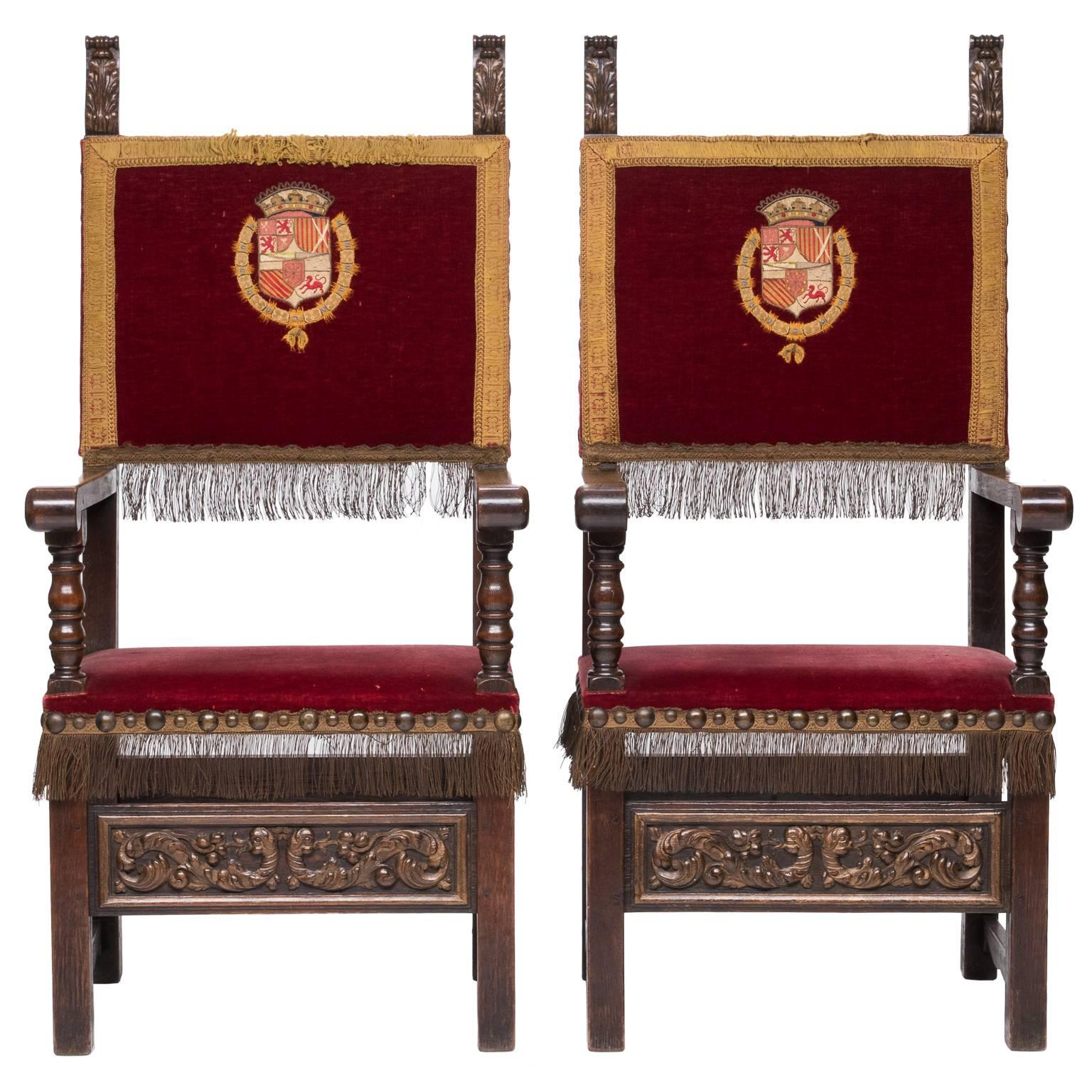 Pair Of 19th Century Queen Anne Childs Chairs For Sale At 1stdibs