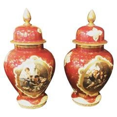 19th Century Pair of French Sevrès Porcelain Vases, 1820s