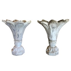 19th Century Pair of French Tulip Planters