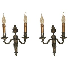 19th Century Pair of French Wall Sconces in Louis XV Style