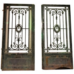 19th Century Pair of French Wrought Iron Gates