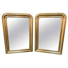19th Century Pair of Gold Louis Philippe Mirrors