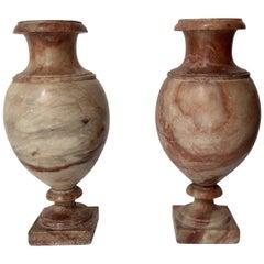 19th Century Pair of Grand Tour Alabaster Vases