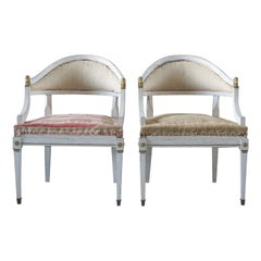 19th Century Pair of Gustavian Armchairs