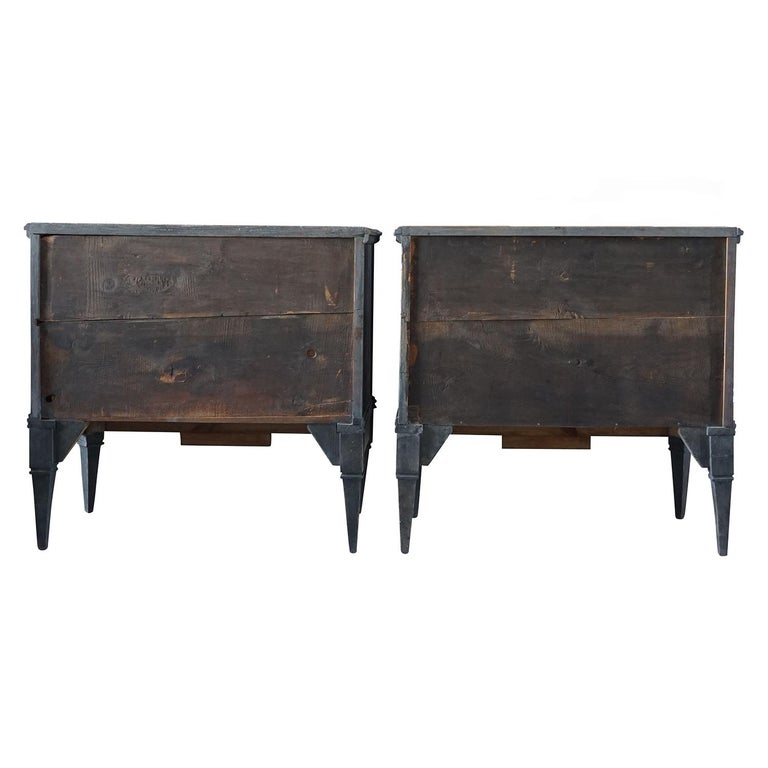 19th Century Pair of Gustavian Chests In Good Condition For Sale In West Palm Beach, FL
