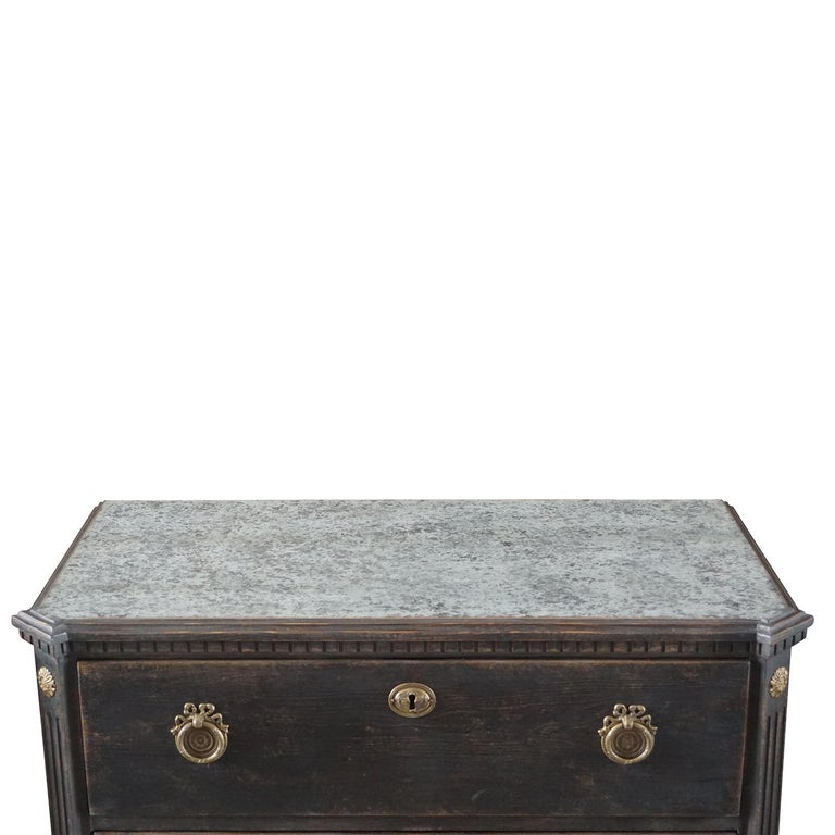 Marble 19th Century Pair of Gustavian Chests For Sale