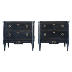 19th Century Pair of Gustavian Chests