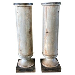 19th Century Pair of Gustavian Round Cabinets
