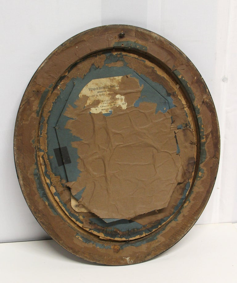 19th Century Pair of Imported Decorative Oval Framed Vintage Portraits For Sale 2