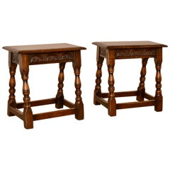 19th Century Pair of Joint Stools