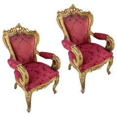 19th Century Pair of Louis Philippe Armchairs