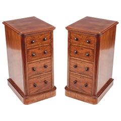 19th Century Pair of Mahogany Bedside Lockers