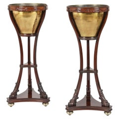 19th Century Pair of Mahogany Jardinières in the Neoclassical Manner