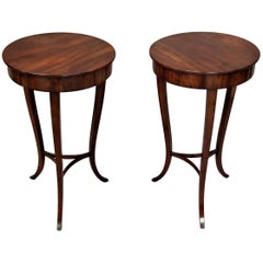 19th Century Pair of Mahogany Occasional End Tables