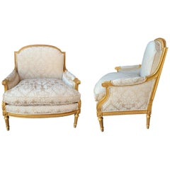 19th Century Pair of Marquis Louis XVI Chairs