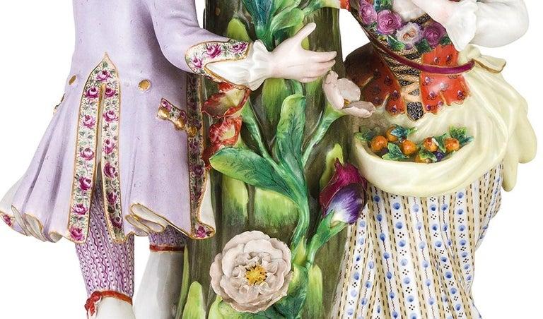 19th Century Pair of Meissen Porcelain Centerpieces For Sale 4