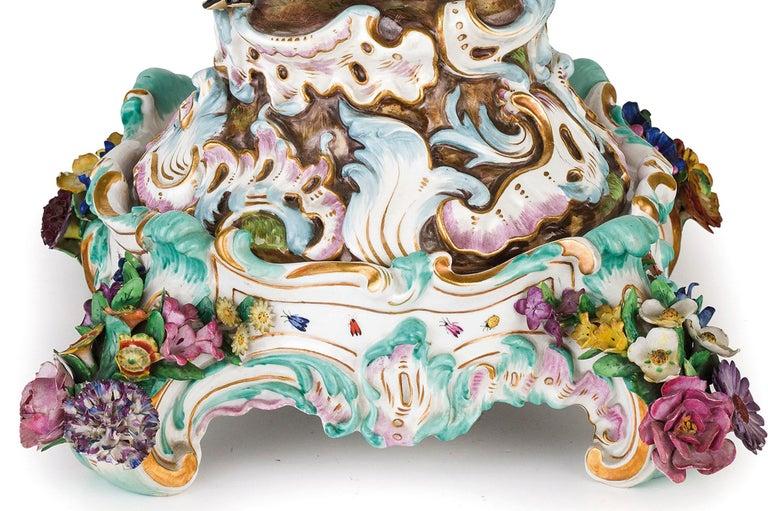 19th Century Pair of Meissen Porcelain Centerpieces For Sale 1
