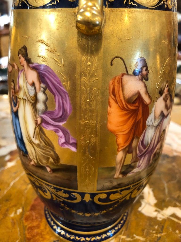 19th Century Pair of Napoleon III° Porcelain Vases Vienna, 1860s 5