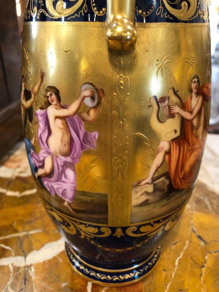 19th Century Pair of Napoleon III° Porcelain Vases Vienna, 1860s 3
