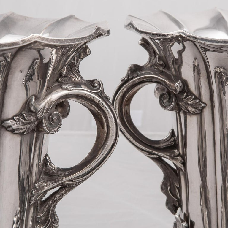 19th Century Pair of Old Sheffield Plated Wine Coolers, Sissons & Co, c.1840 For Sale 7