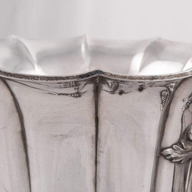 19th Century Pair of Old Sheffield Plated Wine Coolers, Sissons & Co, c.1840 For Sale 8