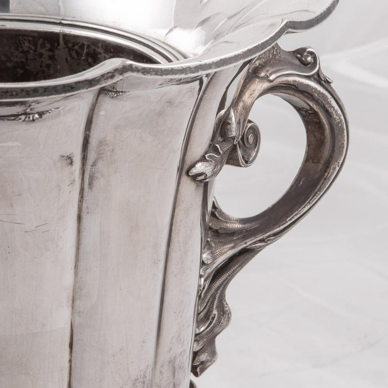 19th Century Pair of Old Sheffield Plated Wine Coolers, Sissons & Co, c.1840 For Sale 2