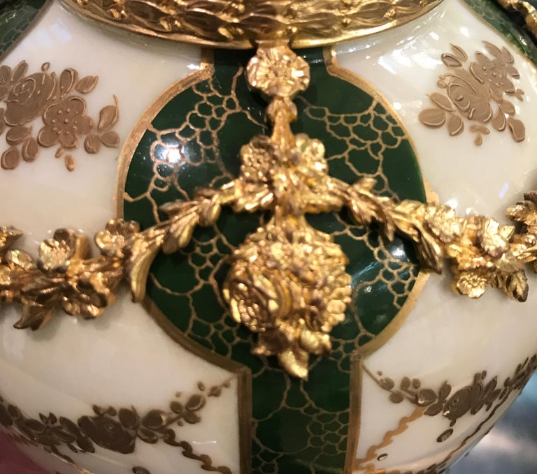 19th Century Pair of Sèvres French Porcelain and Ormolu Vases 5