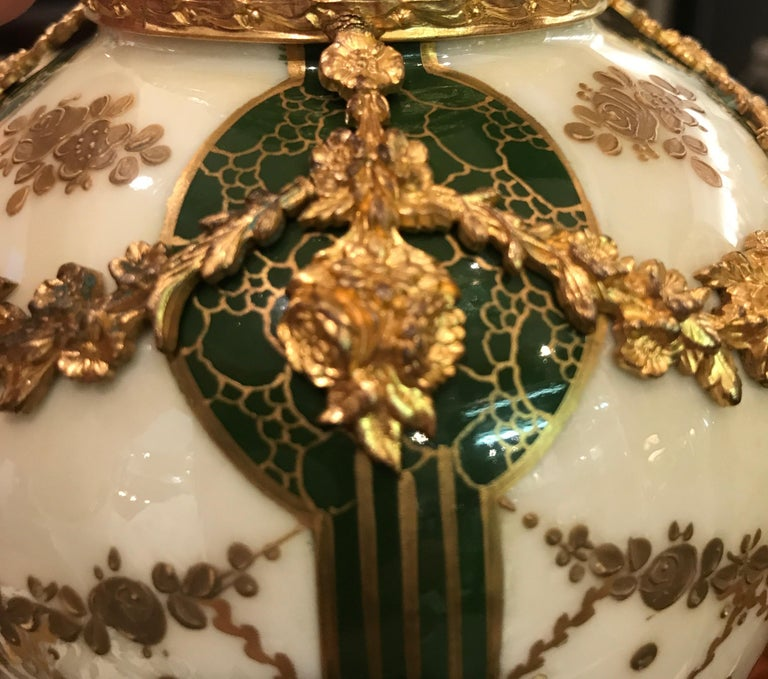 19th Century Pair of Sèvres French Porcelain and Ormolu Vases 2