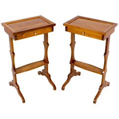 19th Century Pair of Side Table Solid Cherrywood