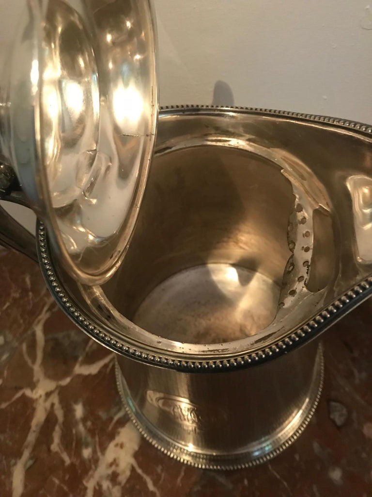 19th Century Pair of Silverplate Water Jugs/Pitchers For Sale 4