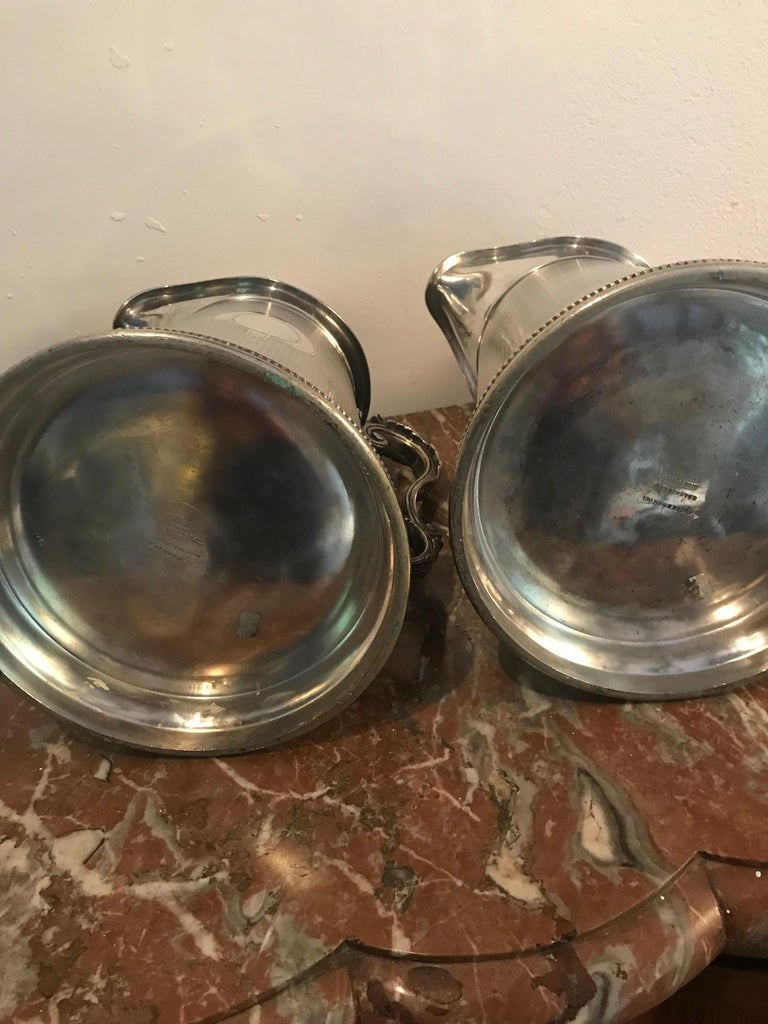 19th Century Pair of Silverplate Water Jugs/Pitchers For Sale 10