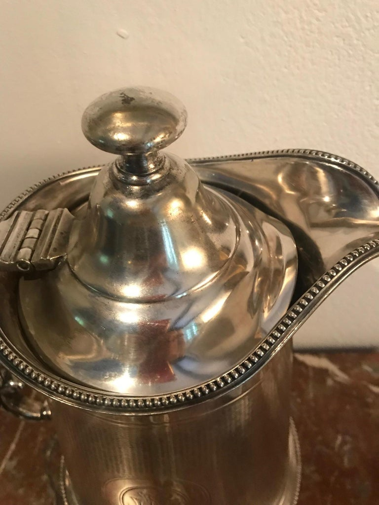 19th Century Pair of Silverplate Water Jugs/Pitchers For Sale 1