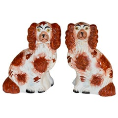 19th Century Pair of Small Staffordshire Dogs