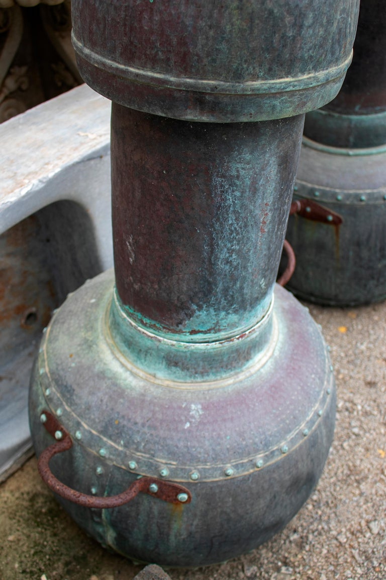 19th Century Pair of Spanish Galician Copper Spirit Stills For Sale 7