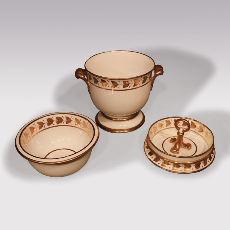 English 19th Century Pair of Spode Porcelain Ice-Pails For Sale