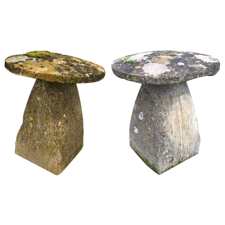 19th Century Pair of Staddle Stones, England