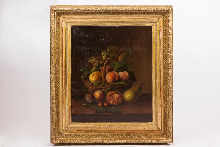 French 19th Century Pair of Still Lifes Oil on Canvas Paintings For Sale