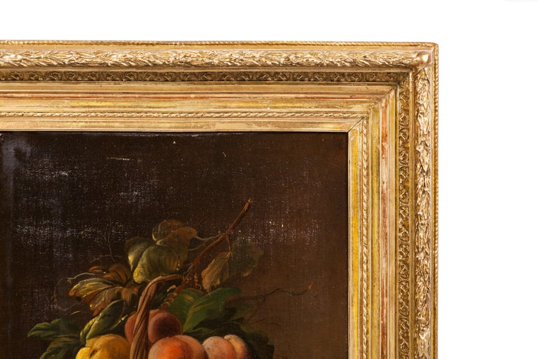 Painted 19th Century Pair of Still Lifes Oil on Canvas Paintings For Sale