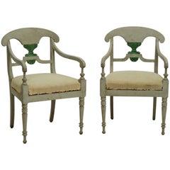 19th Century Pair of Swedish Armchairs