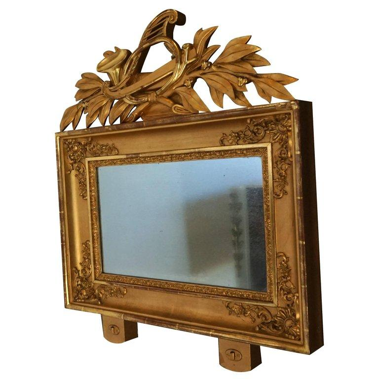 19th Century Swedish Pair of Gilded Wood Wall Mirrors For Sale 2